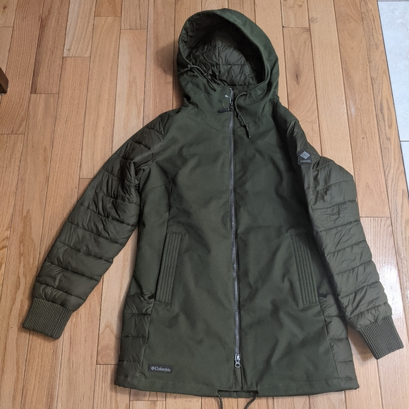 Olive/Army Green Columbia Ladies Winter Coat